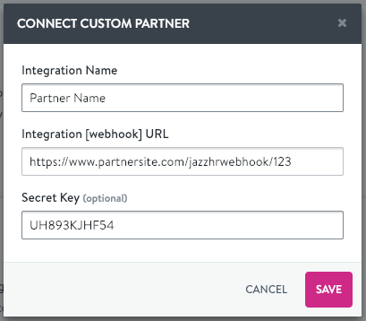 Connect a Custom Integration